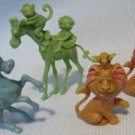 Circus Animals Lion Monkey Giraffe Vintage Mini Hong Kong Figures