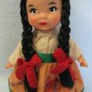 "Vintage 7"" Doll Black Braids Vinyl Rubber J.A.F."
