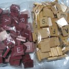 SCRABBLE GAME TILES - 190 + Red / Natural Wood Letters