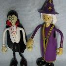 Bendos Purple Wizard + Drac Dracula Vampire HOCUS POCUS Figures