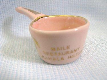 Vintage Kahala Hilton Hawaii Pink Porcelain Miniature Souvenir
