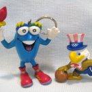 Izzy Olympic Mascot Key Chain + Eagle Sam Pvc Figures