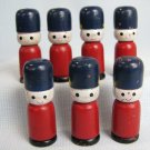 Vintage Toy Soldiers 7 Wood Toys