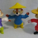 3 Chip N Dale Disney Epcot Figures