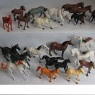 22 Small Horses Lot Plastic Figures Toys Western Diorama Sets