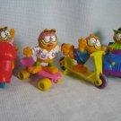 Garfield Figures McDonald's Happy Meal Set 1989 Toys