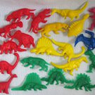 20 Dinosaurs Mammoth T-Rex Colored Plastic PVC Figures