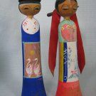 Japanese Wood Kokeshi Bride n Groom Wedding Couple