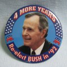 George Bush For President 1992 Campaign Political Button Pin Back