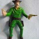 Rubber Green Gunslinger Figure Finger Puppet JaRu 1990s