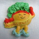 Radishing Beauty Radish Hallmark Fridge MAGNET