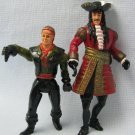Hook Captain Hook + Peter Pan Figures Loose Mattel 1991