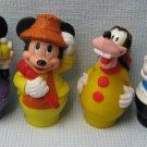 Vintage Disney Mickey Minnie Mouse Little People Figures