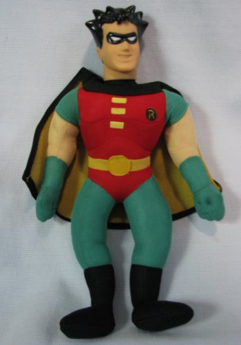 "Batman Robin 13"" Plush Doll DC Comics 1998"