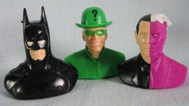 Batman Riddler TwoFace Candy Heads Busts