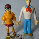 Scooby Doo THELMA FRED Bendy Figures Shaggy Keychain