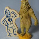 Wizard of Oz Cowardly Lion Figure + Tin Man Magnet MGM