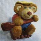 Vintage Furskins Bear on Raft PVC Figure