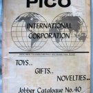 Vintage PICO International Corp Novelty Toy Catalogue No.40 1970
