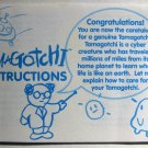 Original Gen 1 Tamagotchi Instruction Manual Bandai