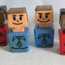 Vintage Playskool Familiar Places 6 People Figures