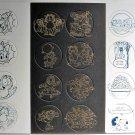 Vintage Garfield Peanuts Disney Slammers POGs Uncut Cards Sheets