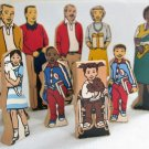 Guidecraft Family Group 9 Wedgie Wood Figures People Block Toys