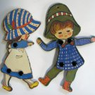 Holly Hobby Style Hardboard Puppet Pair