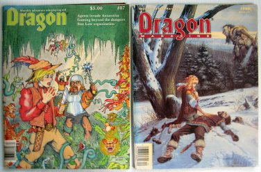 D&D Dragon Monthly Fantasy Adventure Magazines # 87 #140