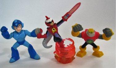 Mega Man Figures Lot ProtoMan GutsMan Bandai