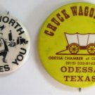 Texas Chuck Wagon + Fort Worth Button Pins Chamber Of Commerce