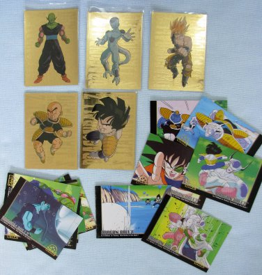 Dragon Ball Z Trading Cards Goku Gold Prism Lot