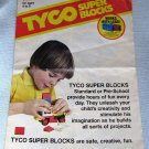 Vintage Tyco Super Building Blocks Hint Book Manual