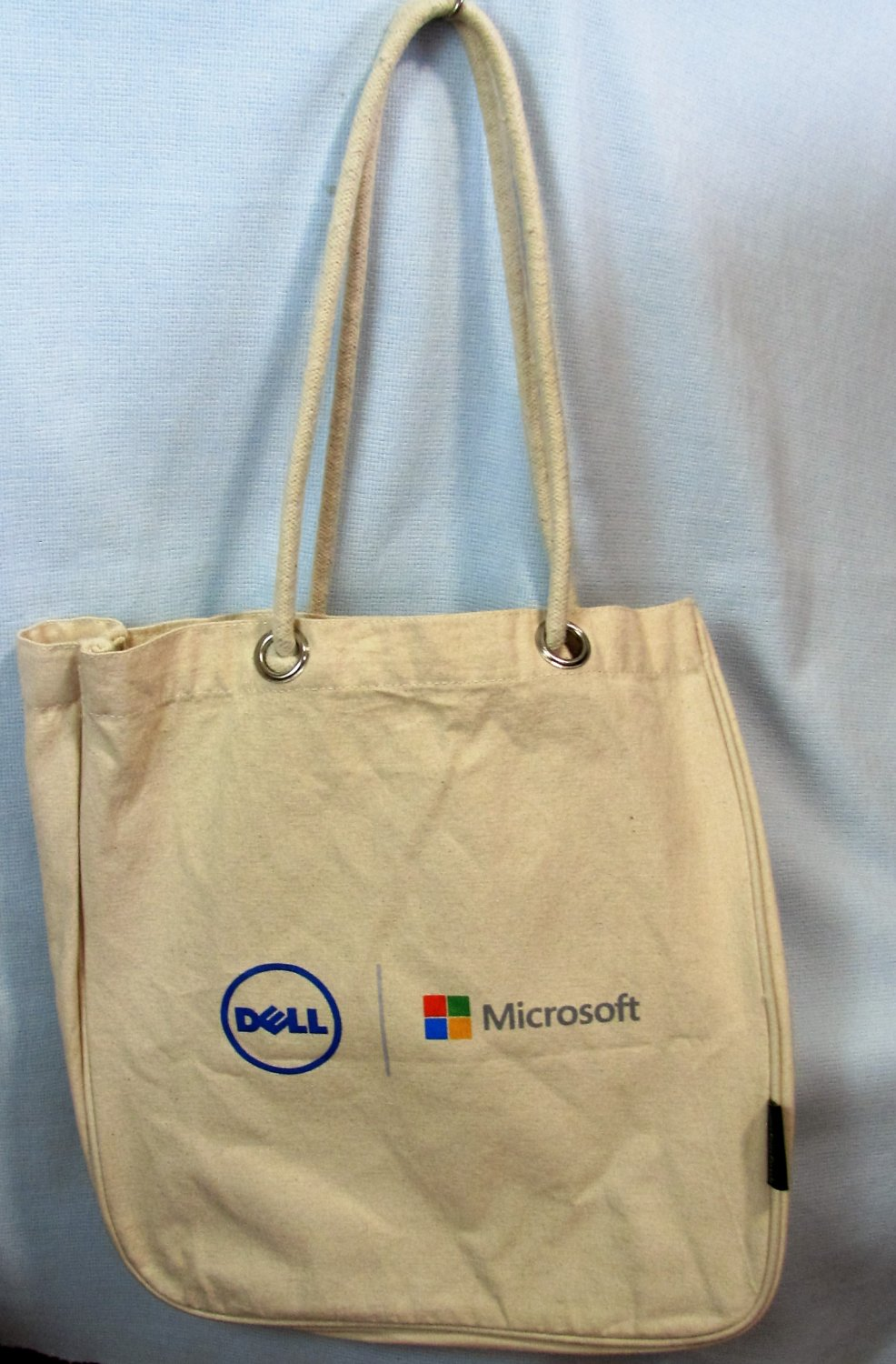 Microsoft Dell Computer Recycle ReUse Canvas Tote Bag