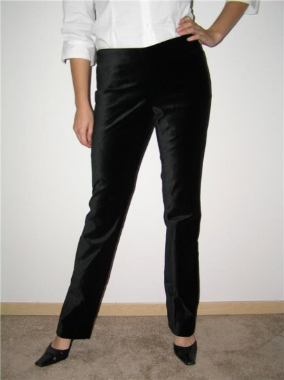 INC International Concepts Black Velvet Pants