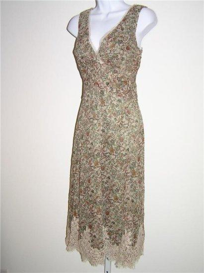 Elie Tahari Danielle Biscuit Silk Dress