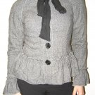 Teri Jon Sport Gray Wool Jacket