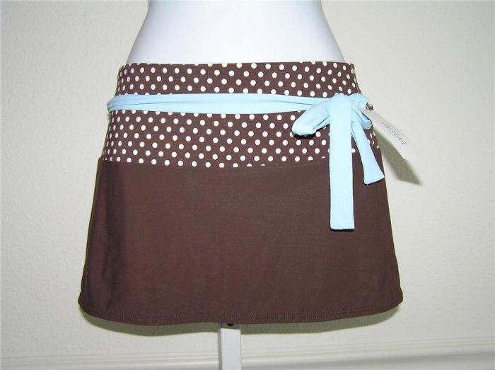 Aqua A-line Mocha Beach Skirt