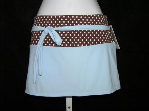 Aqua A-line Mocha/Blue Beach Skirt