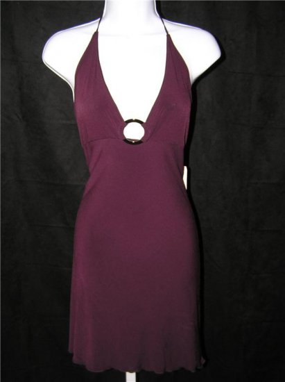 Tina C Beach Eggplant Dress