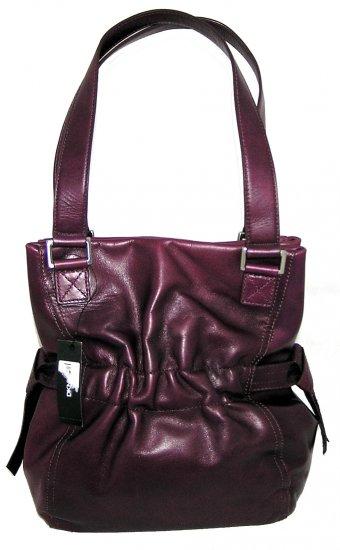 DKNY Donna Karan Antique Rusched Hobo Handbag Bag