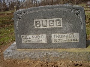 Gravemarker for BUGG, Dillard R. and Thomas L.