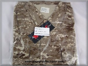 Digital Camo BDU Jacket Shirt Desert Large New NIB