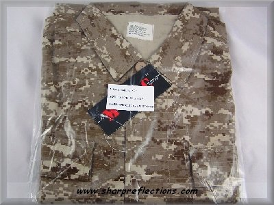Digital Camo BDU Jacket Shirt Desert Medium New NIB