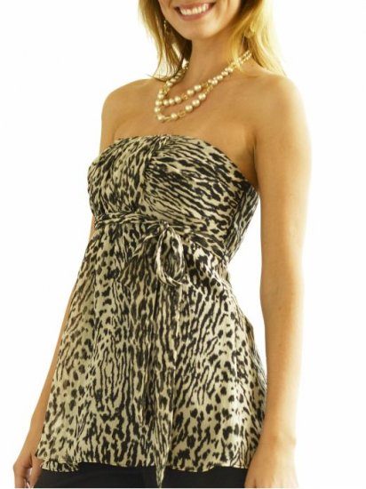 Banana Republic Animal Print Strapless Top - 6 NWOT