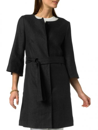 Banana Republic Black Linen 3/4 Sleeve Coat - Small S NWT