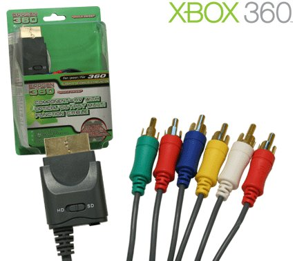 Xbox 360 Component AV Cable with Optical Output