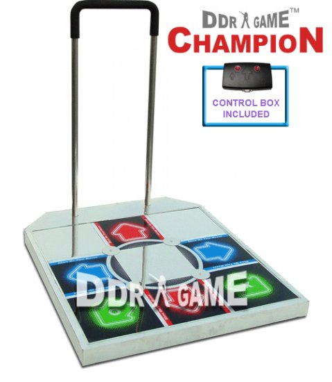 Champion Arcade Metal Dance Pad w/ Handle Bar for PS 1 and PS 2