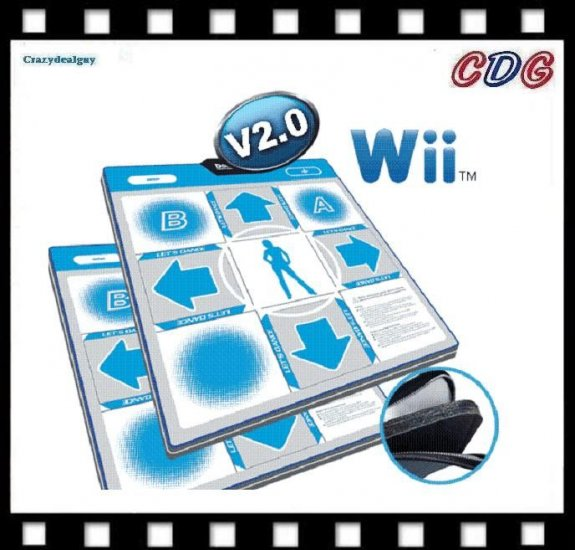 2x Deluxe Dance Foam Pads V2 for Wii Hottest Party 1 ,2 and 3 ddr FS