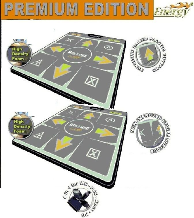 Energy High Dense Ddr Dance Mat Ps Ps2 Xbox Wii Pc Pad X 2